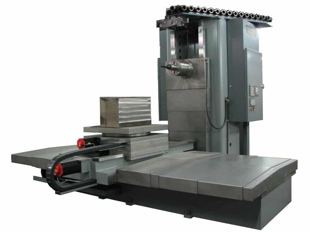 HMC-200 BAR.  Horizontal Machining Center with a BAR spindle. Side view.